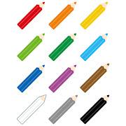 いろいろな色鉛筆のマーク