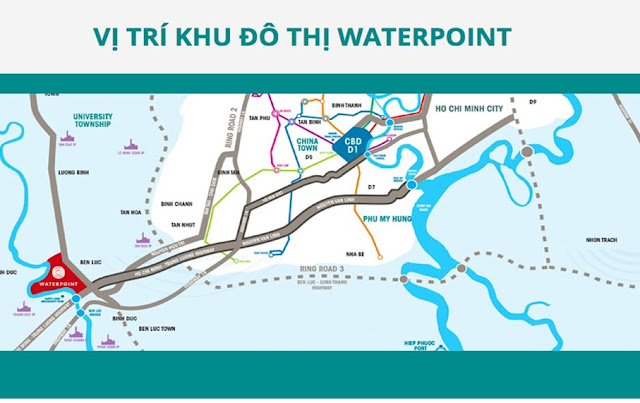 Vị trí dự án Waterpoint Long An