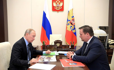 Vladimir Putin at the meeting with Governor of Novgorod Andrei Nikitin.