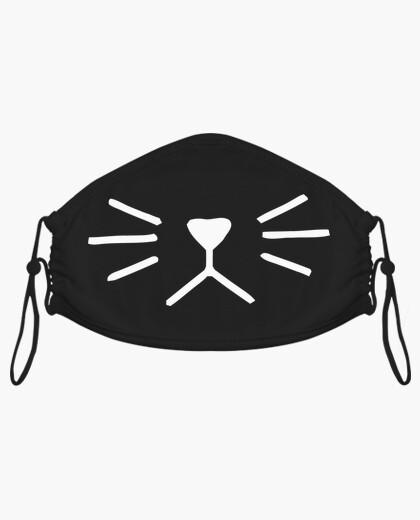 Mascarillas de tela - Diseño Nariz de gato (blanco)