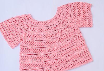 1 - Crochet Imagen Cuerpo de blusa y jarsey a crochet por Majovel Crochet