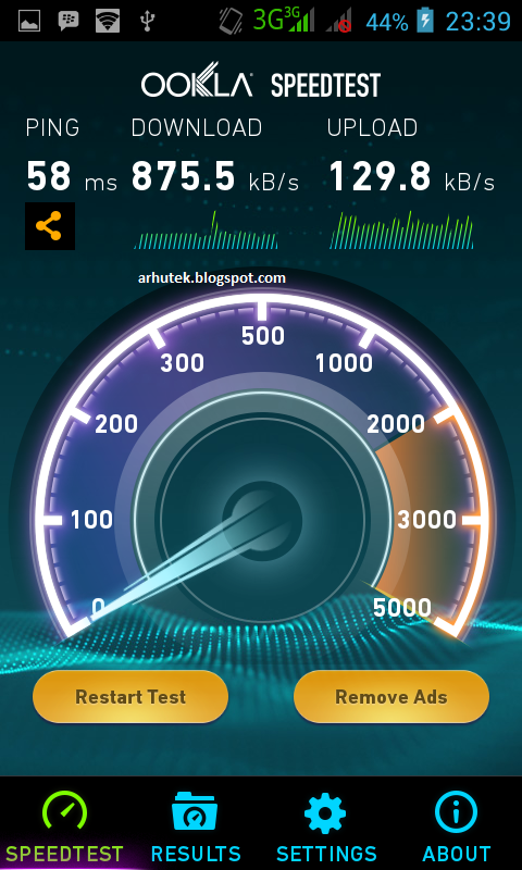 Tes Kecepatan Internet Android Anda (Review Speedtest)