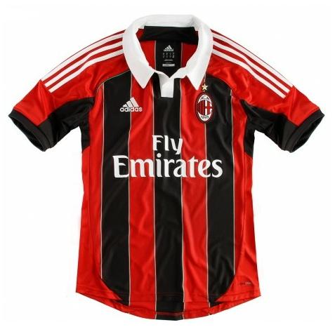 Camiseta local AC Milan 2012 2013 local Adidas - AC Milan home kit ... ea09e2a2680da