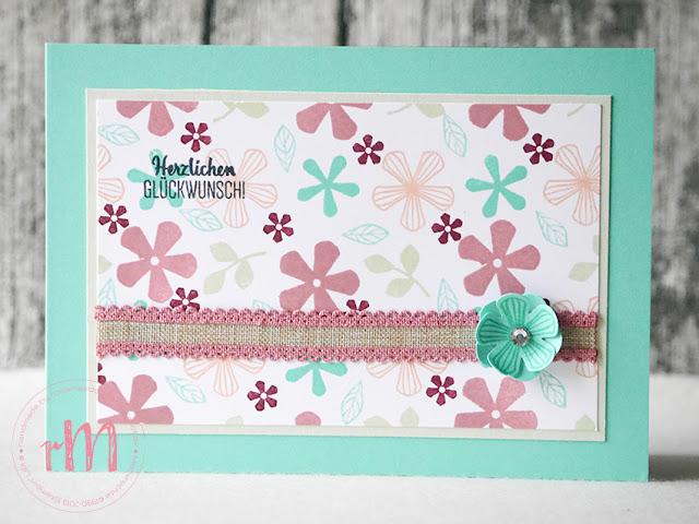 Stampin' Up! rosa Mädchen Kulmbach: Stamp A(r)ttack Blog Hop: Sale a Brate – Glückwunschkarten mit Blumige Überraschung und Stanze kleine Blume