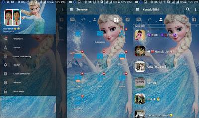 Download BBM Mod Apk Tema Frozen Clone Unclone Terbaru (v3.2.0.6)