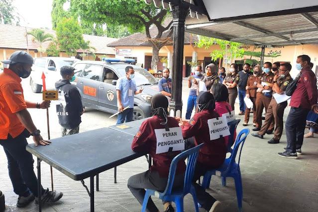 Polres Sumbawa gelar rekonstruksi pembunuhan Abdul Rauf