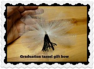 Graduation tassel gift bow