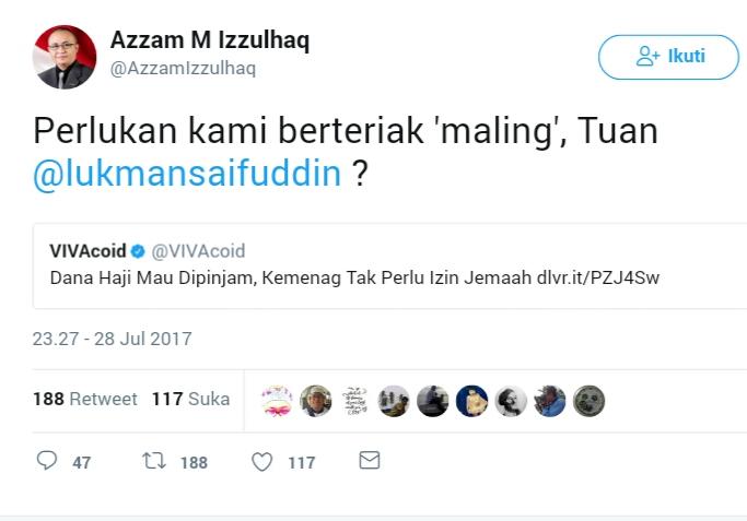 Dana Haji Bisa Dipakai Tanpa Izin Jamaah, Netizen: Perlukah Kami Teriak 'Maling' Tuan?