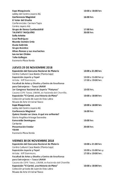 programación feria taxco 2018