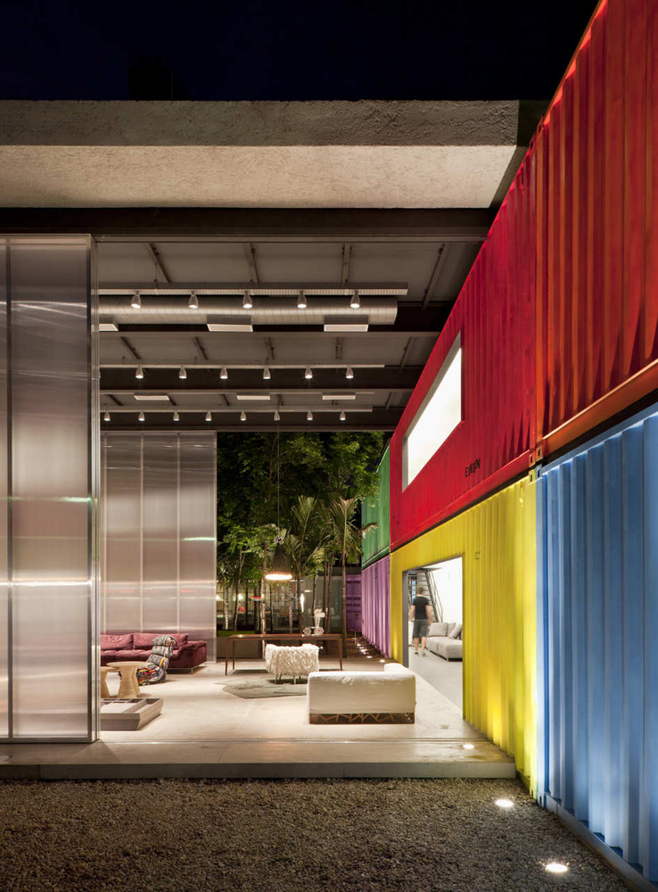 Decameron - Low Budget Colorful Shipping Container Store, Brazil 14