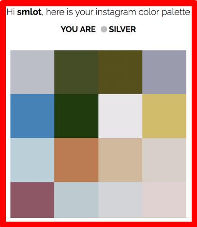 Instagram Color Palette