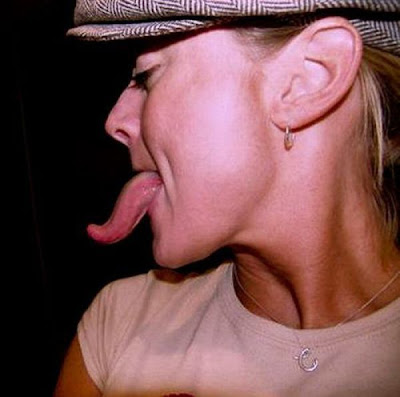 world of celebrity news girls with long tongue