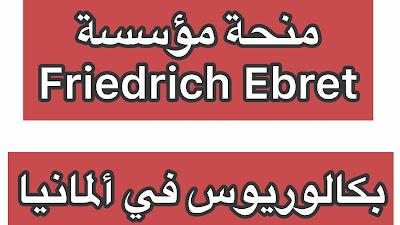 منح مؤسسة Friedrich Ebert لدراسة البكالوريوس و الماجستير في المانيا
