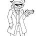 Garcello Detective/Gangster(?) para Colorir