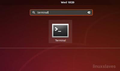 Open Ubuntu's terminal