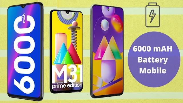 6000 mAH Battery Mobile