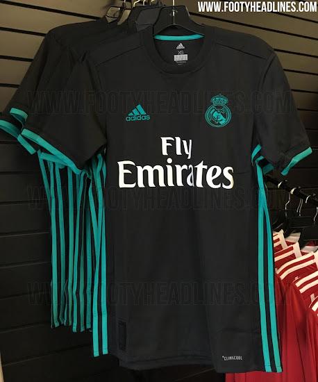 b0f945d949db6 Uniforme suplente negro para el Real Madrid 2017 18