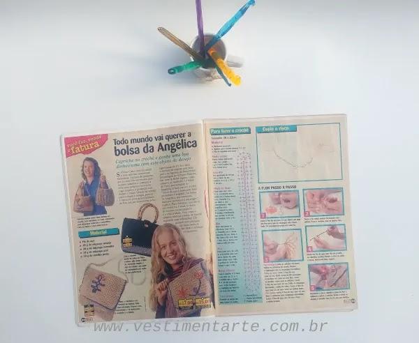 coleção revistas crochê antigas