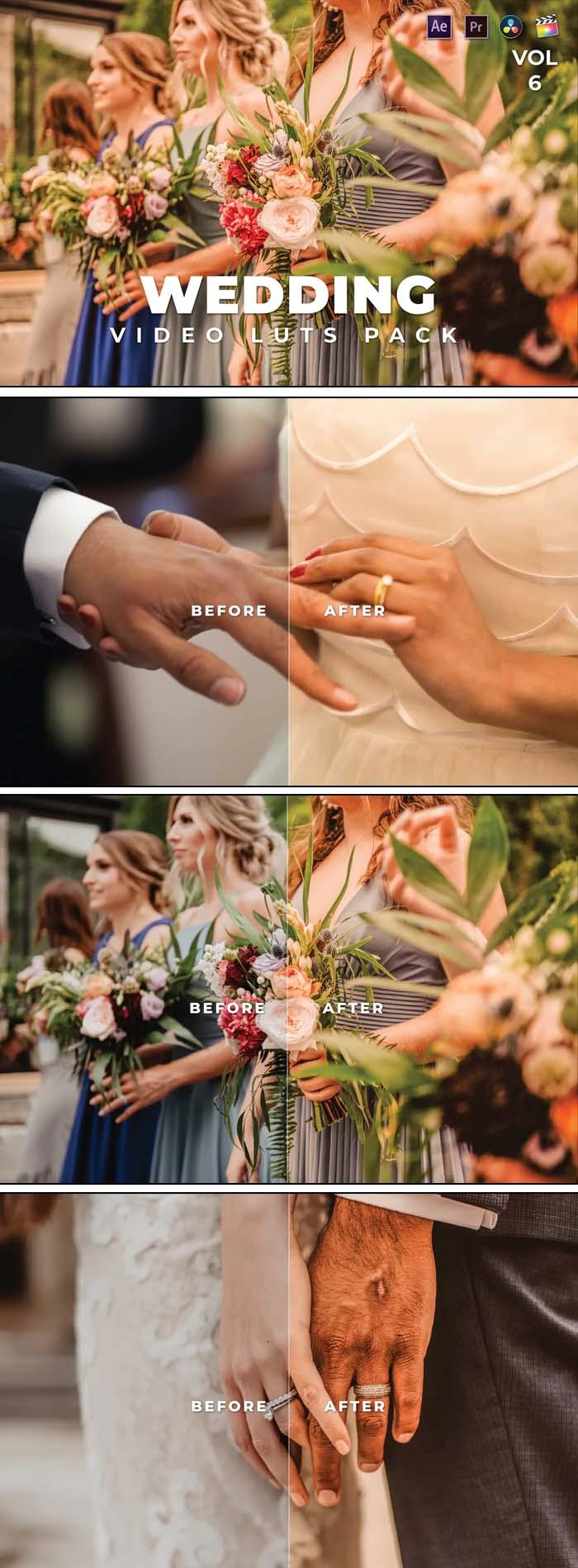 Wedding Pack Video LUTs Vol.6