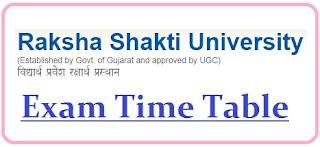 Raksha Shakti University Exam Date Sheet 2020