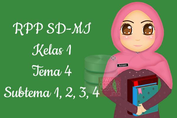 RPP Tematik SD/MI Kelas 1 Tema 4 Subtema 1 2 3 4 Semester 1, Download RPP Kelas 1 Tema 4 Subtema 1 2 3 4 Kurikulum 2013 SD/MI Revisi Terbaru, RPP Silabus Tematik Kelas 1
