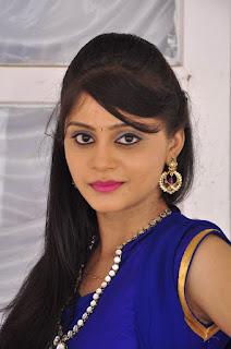Actress Harisha Krishna Stills in Beautiful Blue Chudiddar  0003.jpg
