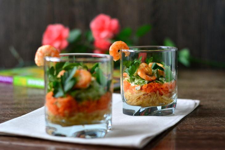 Салаты-коктейли рецепты с фото