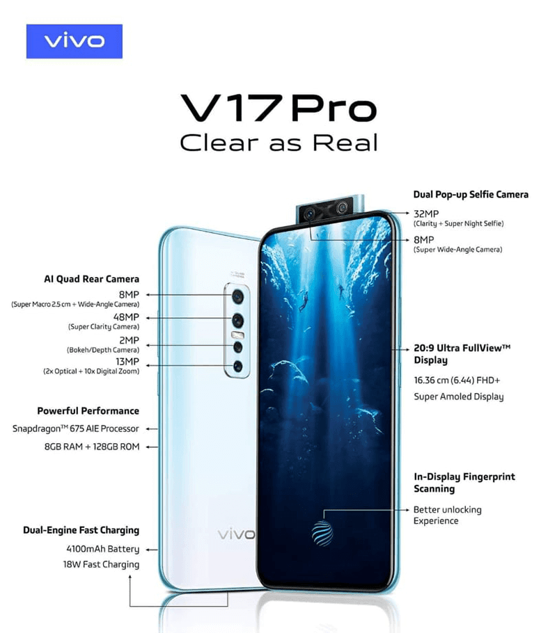 Vivo V17 Pro is coming to the Philippines, to launch on October 9