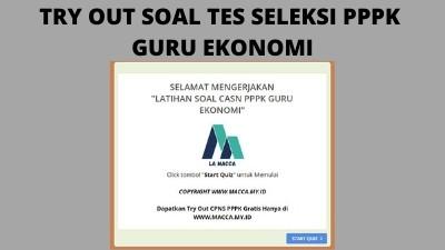 Tryout CPNS Online Gratis PPPK Guru Ekonomi