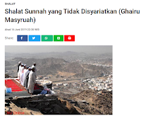 Shalat Sunnah Yang Tidak Disyariatkan (Ghairu Masyruah) - Kajian Sunnah Tarakan