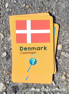Continent Race Game Card: Denmark