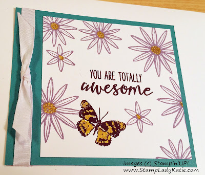 Butterfly and flower card made with Stampin'UP!'s Grateful Bunch Stamp Set and Gold Wink of Stella