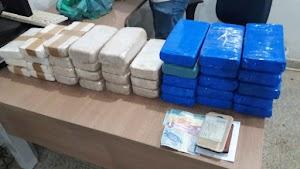 Ação da PRF e PM apreende quase 40 quilos de droga que saiu de Guajará-Mirim