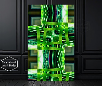 Green-Digital-art-abstract-by-yamy-morrell