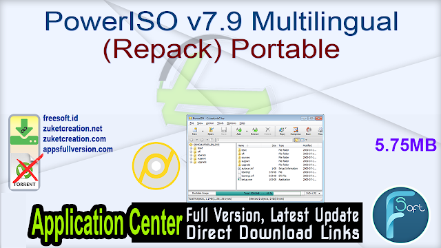 PowerISO v7.9 Multilingual (Repack) Portable