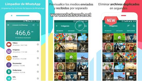 Limpiador para WhatsApp