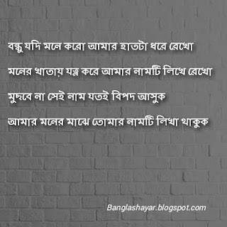 Bengali Friendship Shayari