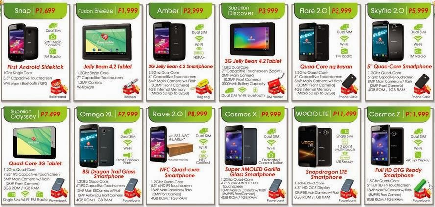 List Price Tablet Mobile Cherry