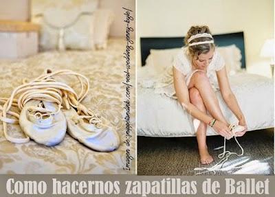Como hacer unas Zapatillas de Ballet o Bailarina paso a paso