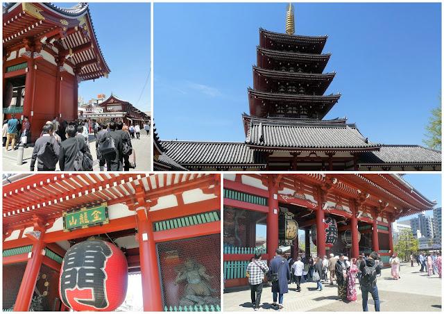 edificios del templo sensoji en Tokio