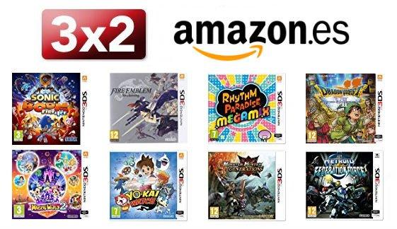 Amazon España anuncia un 3X2 en videojuegos de 3DS