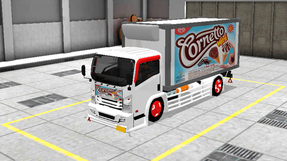 livery mod truck isuzu nmr71 box bussid cornetto