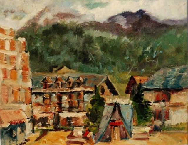 Emiliano García Tur pintura paisaje urbano