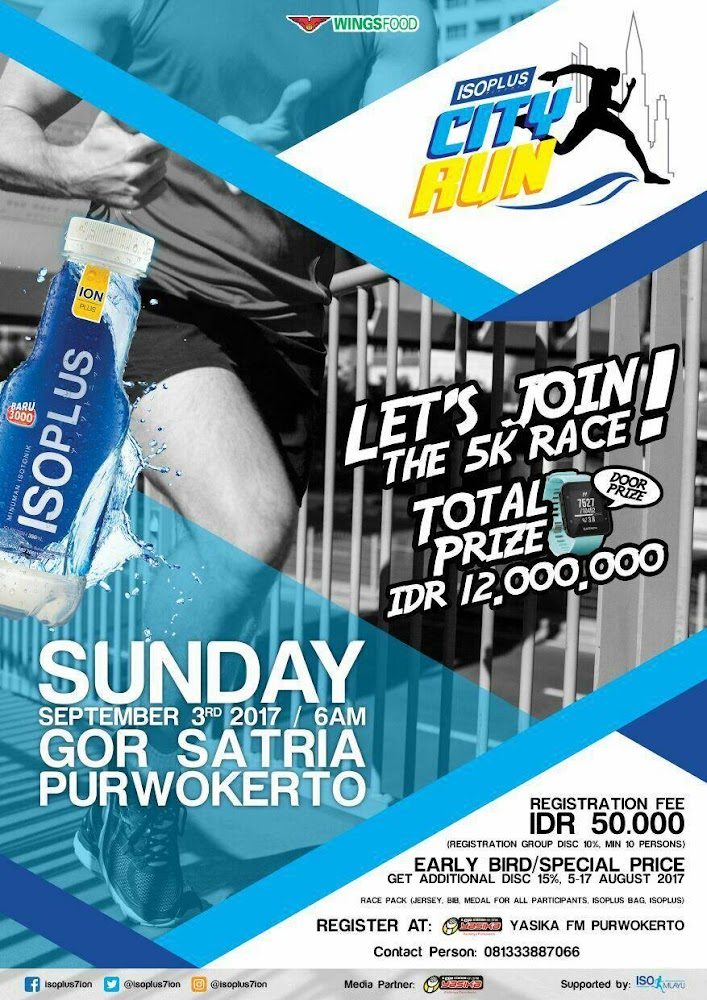Isoplus City Run - Purwokerto • 2017