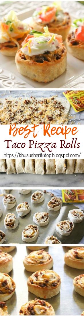 Taco Pizza Rolls #dinnerrecipe #food