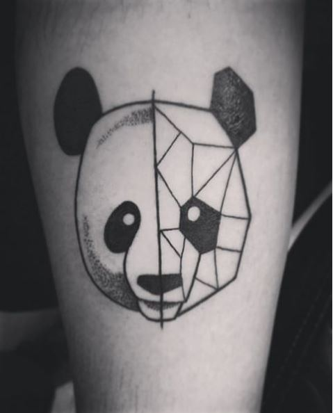 5c16c989c Here is another version of Panda yin yang tattoo. This represent the know  identity of a person vs the true self.