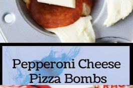 Pepperoni Cheese Pizza Bombs