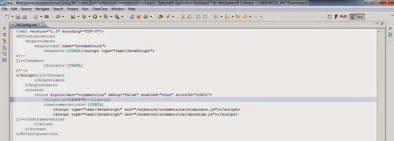 IBM Websphere commerce: Coremetrics integration with