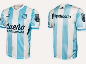 O tradicional clube argentino Racing lança nesta semana seus novos uniformes  que foram desenvolvidos pela Topper. Ao preço de R  230 7ac9f56b4e299