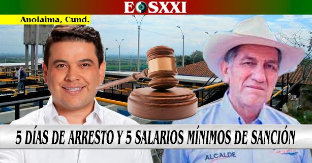 Arresto y multa para el gobernador García y el alcalde Martínez